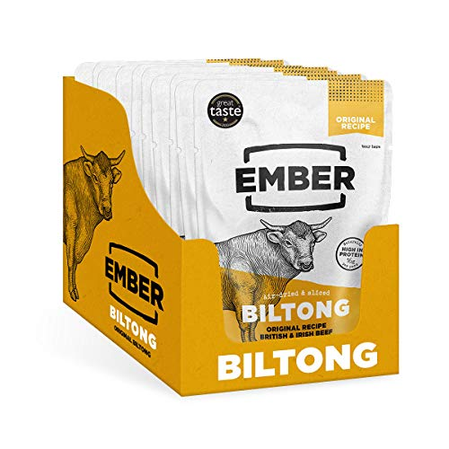 Ember Biltong - Original Beef Jerky - High Protein Snack - Original (10 Pack) from EMBER