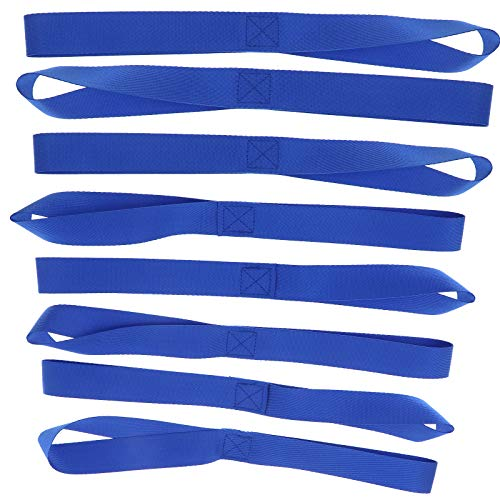 ENET 8pcs 18 Inch Universal Soft Loop Tie-Down Straps to Protect Motorcycle ATV UTV, 45.5cmx2.5cm Blue from ENET