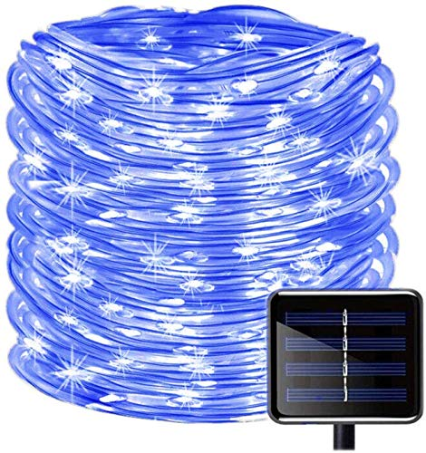 Solar Rope Lights, EONANT 39ft/12M 100LED Waterproof Copper Tube Wire String Lights for Garden,Yard, Path, Fence, Stairs, Backyard, Patio Decorative (Blue) from EONANT
