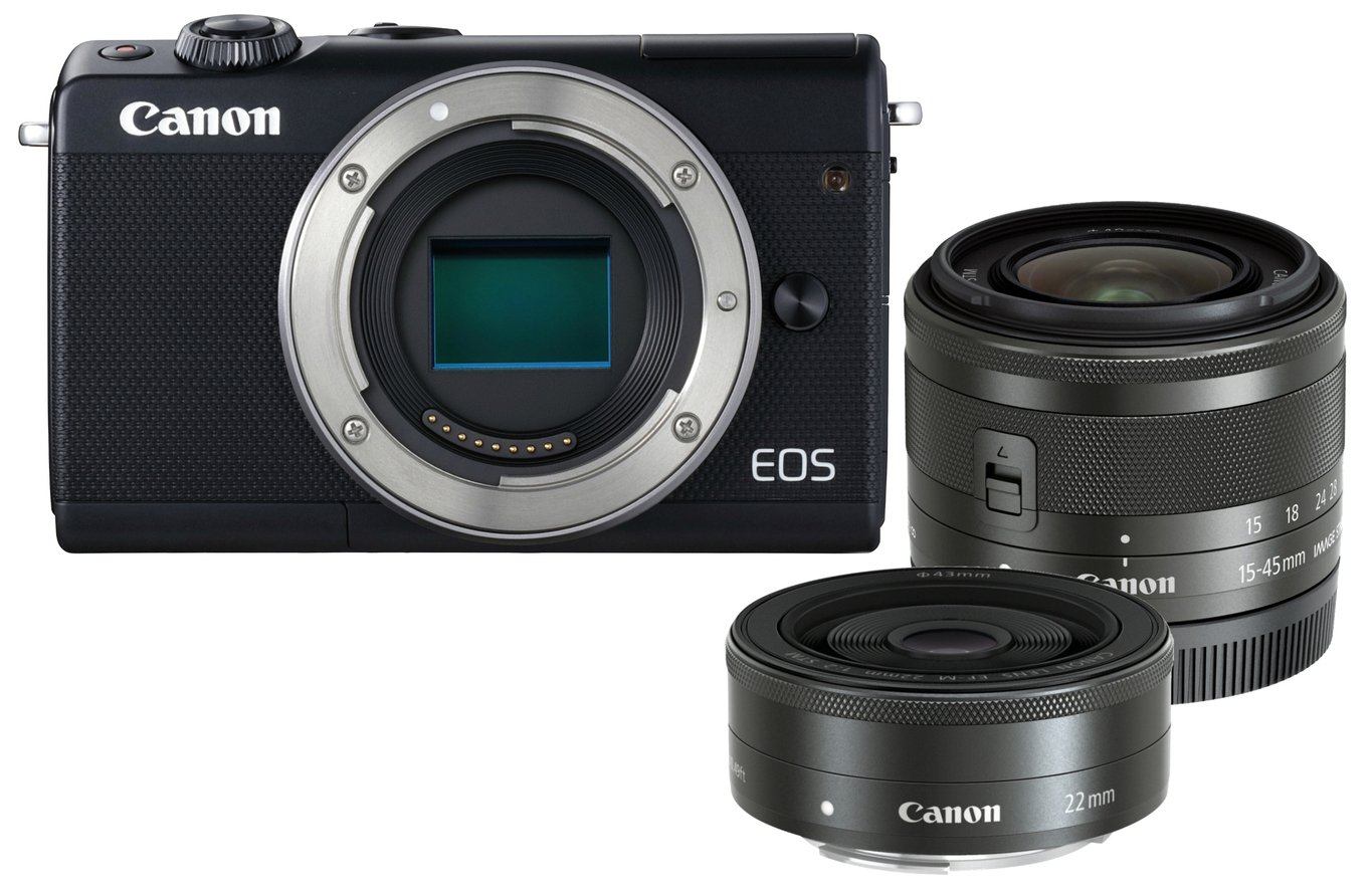 Canon EOS M100 Mirrorless Camera with 15-45mm & 22mm Lenses from EOS
