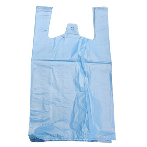 "EPOSGEAR Extra Strong Eco Recycled Plastic Vest Carrier Shopping Bags - Perfect for Shops, Market Stalls, Off Licences etc (22mu Jumbo - 12"" x 18"" x 24"", Blue, 1000) from EPOSGEAR"