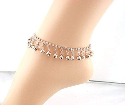 EQLEF® Fashion Rose Gold Planted Diamonds Bells Anklet for Woman from EQLEF®
