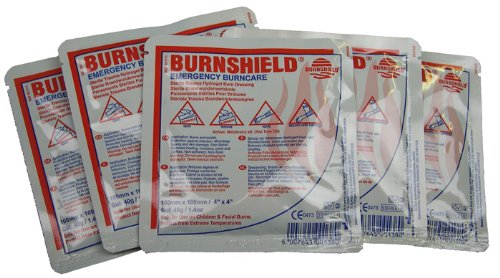 Pack of 5 Burnshield Emergency Burncare Dressing 10x10cm from EVAQ8