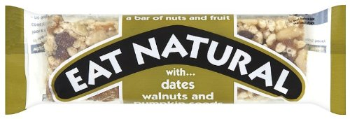 EAT NATURAL Dates Walnut & Pumpkin seed  Dates Walnut and Pumpkin seeds 50g (PACK OF 12) from Eat Natural