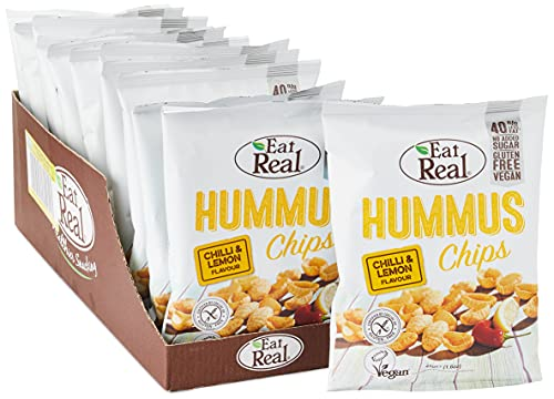 Eat Real Hummus Chilli and Lemon Chips 45 g (Pack of 12) from Eat Real