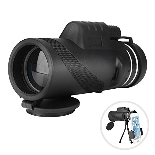 Super Clear 40x60 Monocular Telescope,Portable Spotting Scope with Day & Night Vision, Manual Focusing Support 8x Zooming Wide Angle Viewing Phone Telescope for Bird Watching, SightSeeing, Sport Watc from Eboxer