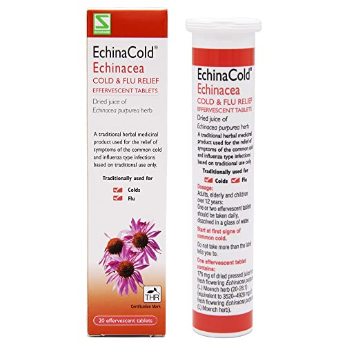 Schwabe Pharma EchinaCold Echinacea Purpurea Herb -Pack of 20 effervescent tablets from Echina cold