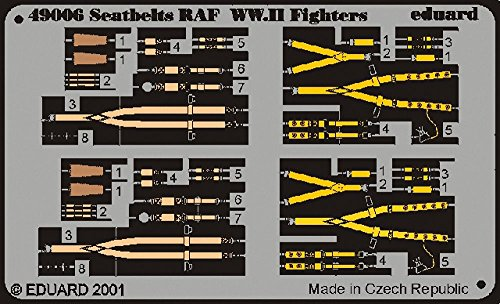 Eduard Photoetch 1:48 - Seatbelts RAF WWII - EDP49006 from Eduard