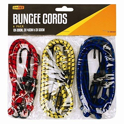 NEW BUNGEE STRAPS CORDS SET WITH HOOKS ELASTICATED ROPE CORD VARIOUS SIZE from Edwards