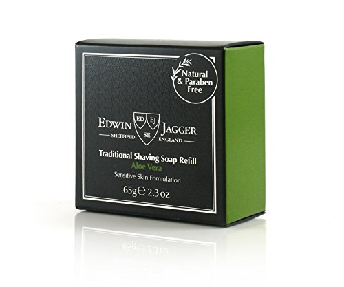 Edwin Jagger Aloe Vera 99.9% Natural Traditional Shaving Soap 65g Refill from Edwin Jagger