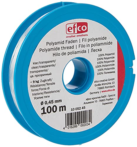 Efco Polyamide thread tensile force approx. 9 kg ø 0,45 mm 100 m clear, 12 x 5 x 2 cm from Efco