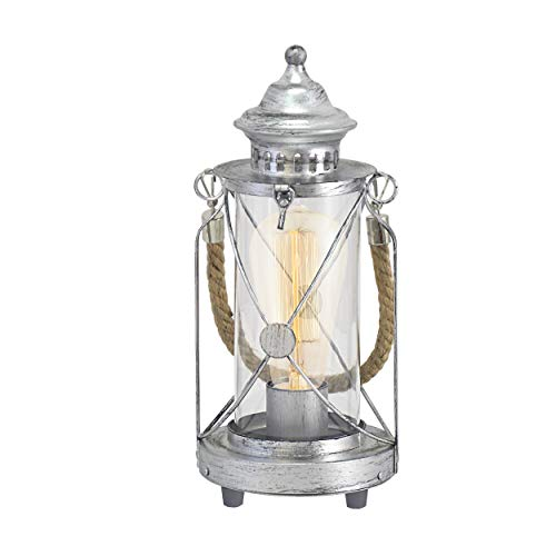 Vincent Table Lamp Colour: Antique Silver from Eglo