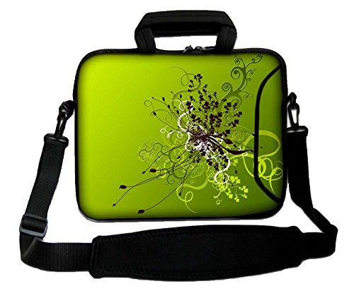 "10"" Inches Design Laptop Notebook Sleeve Soft Case Bag With Handle and Shoulder Strap from Ektor Ltd"