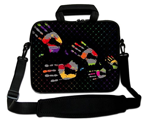 "12"" Inches Design Laptop Notebook Sleeve Soft Case Bag With Handle and Shoulder Strap Bag from Ektor Ltd"