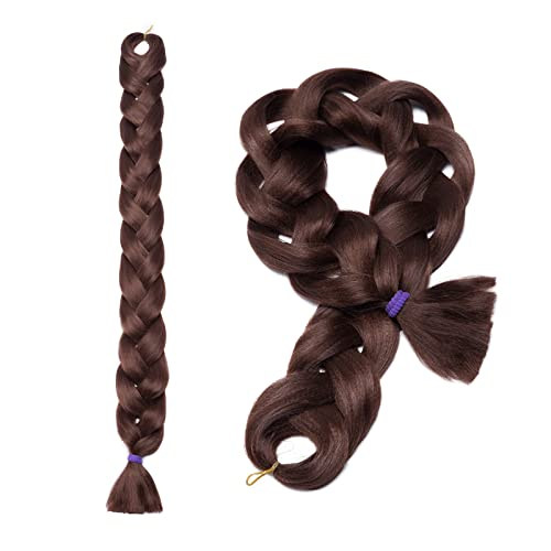 2Packs 41''/105cm Real Long Jumbo Braiding Hair Extensions Kanekalons Afro Box Braids Black Brown Blond Synthetic Braid Ponytail Hair Crochet from Elailite