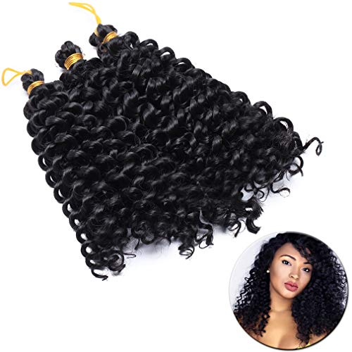 3/6Packs 8'' Big Water Wave Crochet Hair Braiding Hair Extensions Kanekalons Braids Ombre Synthetic Weave Weaving Hair from Elailite