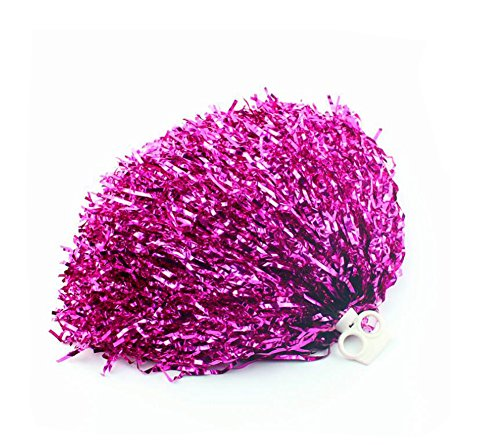 2PCS 30cm/11.8'' Cheerleading Cheerleader Ring Pom Poms Sports Party Accessories Dance Ball Party Sports Pompoms Cheer Pom for Colleage Team Spirit Corporate Events (Rose Red) from Elandy