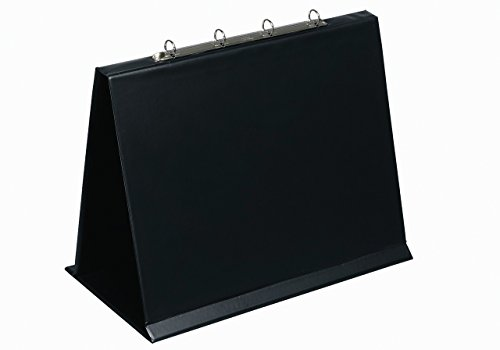 Bantex A3 Landscape 4-Ring 20 mm Capacity Easel Presenter, Collapsible, Black from Elba
