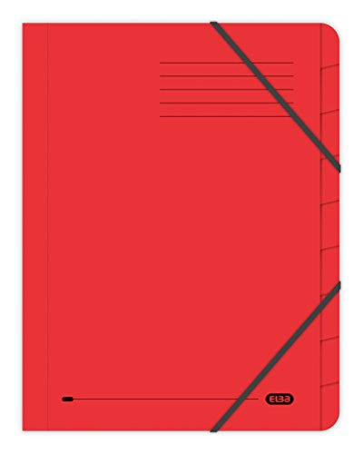 Elba 100090174 Strongline, A4, 9-Part Files - Pack of 5, Red from Elba