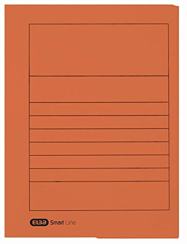 Elba 31460BL Document Cover 250 g/sq. m Manila Cardboard for 150 DIN A4 Pages Set of 25, Blue Briefcase Orange from Elba