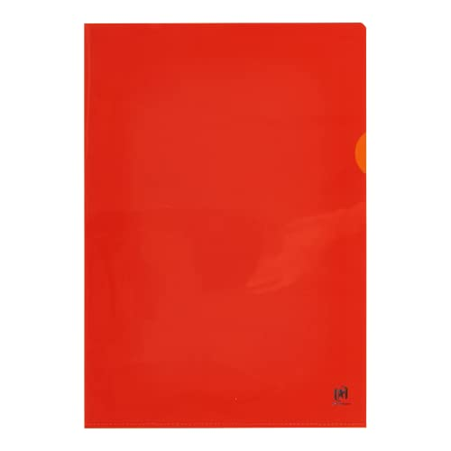Elba 76442OG Flush Folder See-Through for DIN A4 PVC Strengthened Film 150 Micron Pack of 25 Orange from Elba