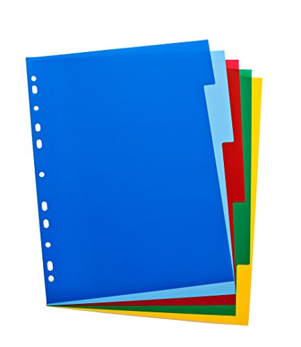 Elba, File Dividers A4, 5 Part, Plastic, Assorted, 1 Sets from Elba