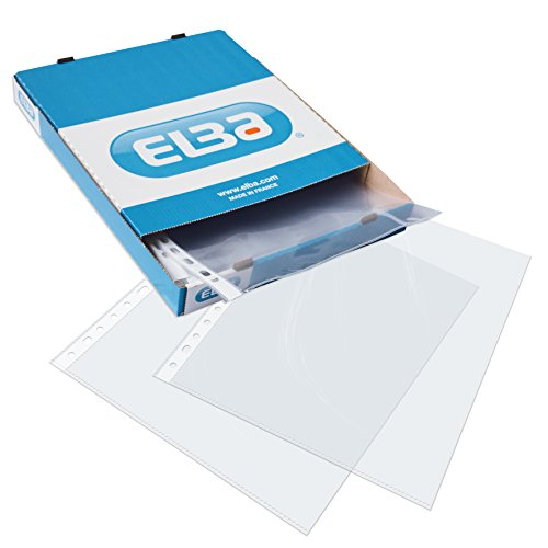 Elba A4 70 Microns Standard Punched Pockets - Clear (Box of 100) from Elba