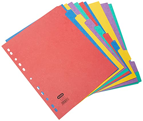 Elba, File Dividers A4, 10 Part, Extra Wide, Assorted, 1 Sets from Elba
