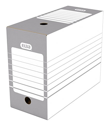 Elba Automatic Filing Boxes, Pack of 20 Dos 15 cm Gray from Elba