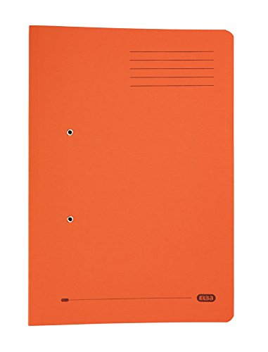 Elba Foolscap Strongline Spring Pocket Files, Orange, 320 gsm, Pack of 25 from Elba