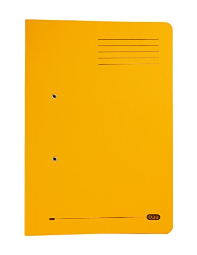 Elba Foolscap Strongline Spring Pocket Files, Yellow, 320 gsm, Pack of 25 from Elba