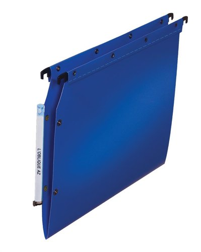 Elba Ultimate Polypropylene Lateral Suspension Files, A4 Size, V-Base - Blue, Pack of 25 from Elba