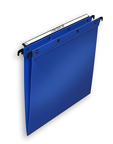 Elba Ultimate Polypropylene Suspension Files, Foolscap Size, V-Base - Blue, Pack of 25 from Elba
