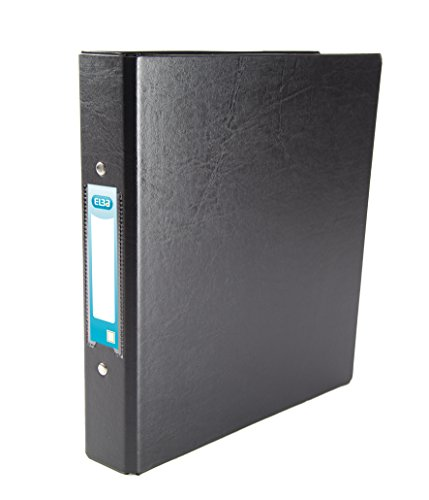 Elba A5 Heavyweight Plastic Ring Binder, 25 mm Capacity, Black, Pack of 10 from Elba
