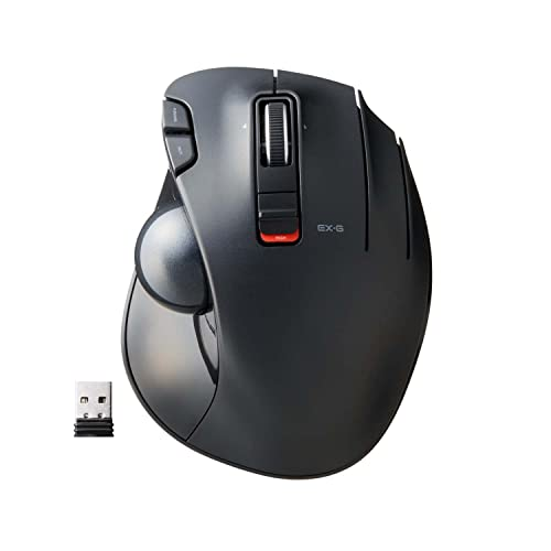 Elecom wireless track ball mouse 6 button height of the tilt function grip black M-XT3DRBK from Elecom