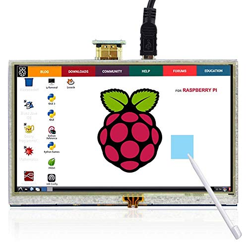ELECROW 5 Inch Touch Screen HDMI Monitor HD 800x480 TFT LCD Display for Raspberry Pi 2B B+ Raspberry Pi 3B from ELECROW