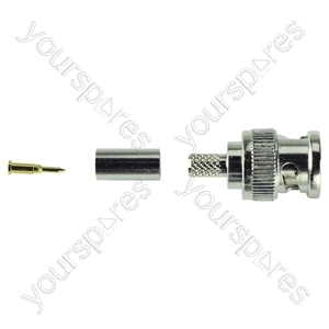 BNC Crimp Type Line Plug 75 Ohm from Electrovision
