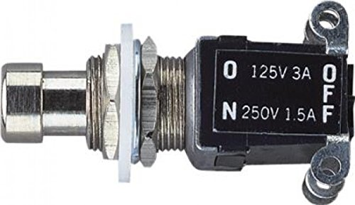 Heavy Duty Foot Switch, Latching, Chrome from Electrovision