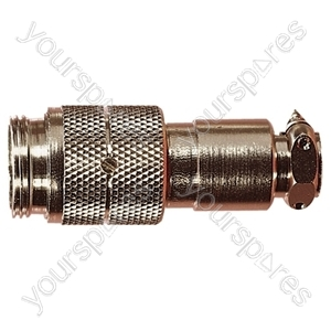 Nickel High Quality Multi Contact Line Plug with Cable Grip and Solder Terminals from Electrovision
