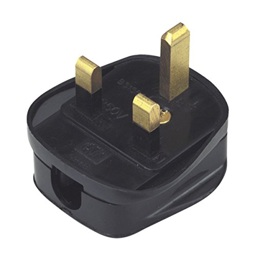 Quick Fit 3 Pin UK Plug, Black from Electrovision