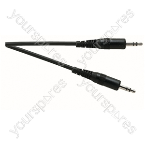 Standard 3.5 mm Stereo Jack Plug to 3.5 mm Stereo Jack Plug Lead from Electrovision