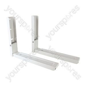 White Microwave brackets with Extendable Arms - Large from Electrovision