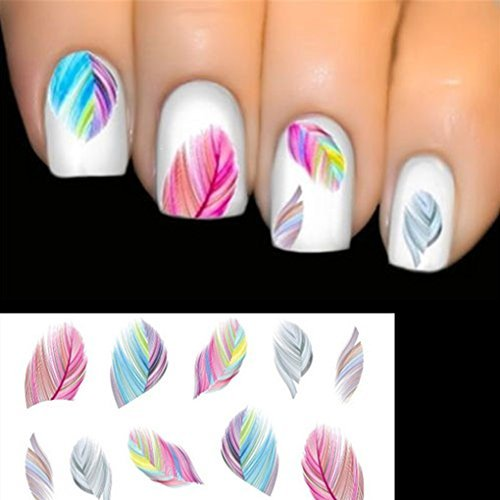 ELENXS Beauty Accessories Nail Art Water Transfer Decal Sticker Rainbow Dreams from Elenxs