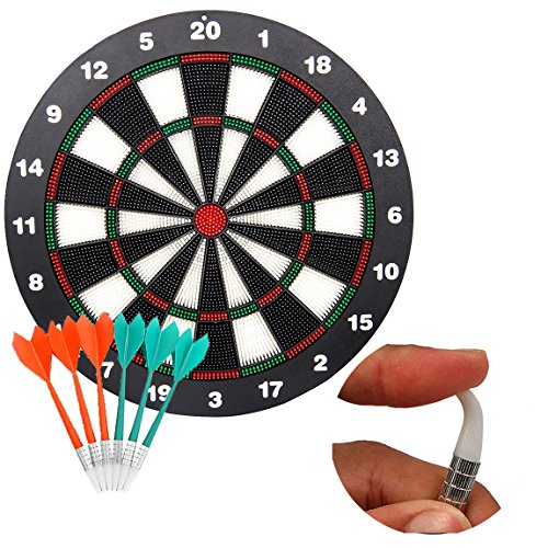 Soft Tip Safety Darts and Dart Board - Great Games for Kids Children- Professional Dartboard Set ( with 6pcs Safe Soft Tip Darts) from ele ELEOPTION