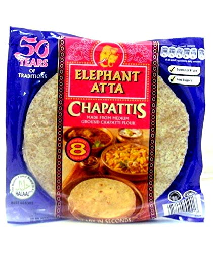 (6 Pack) Elephant Atta Chapati (6 Pack x 8 Chapatis) from Elephant Atta