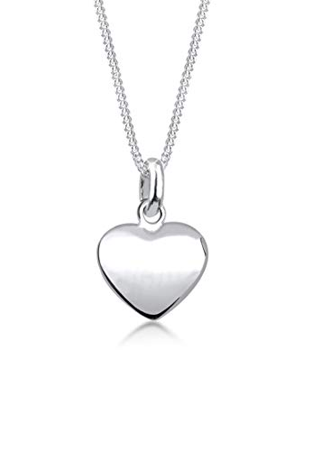 Elli Women Genuine Jewellery Necklace with Pendant Heart Love Friendship Pendant 925 Sterling Silver Length 45 cm from Elli