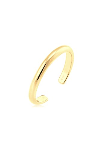 Elli Women Gold Plated 925 Sterling Silver Midi Adjustable Ring 0611890116_39 from Elli