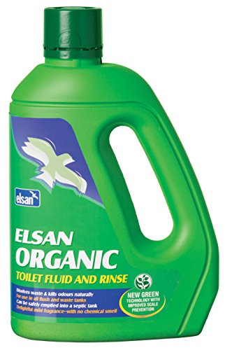 Elsan ORG02 Organic Toilet Fluid for Motorhomes, Green, 2 Litre from Elsan