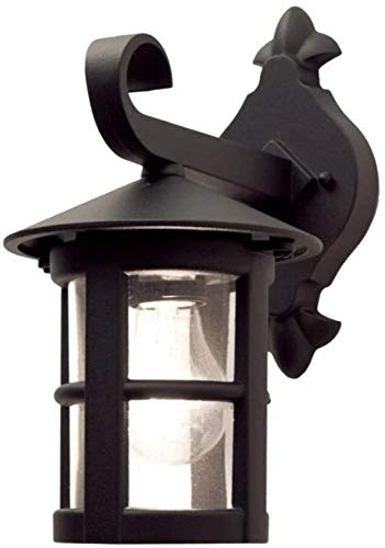 Elstead HEREFORD BL21 outdoor wall light Matt Black finish and glass IP43 from Elstead Lighting