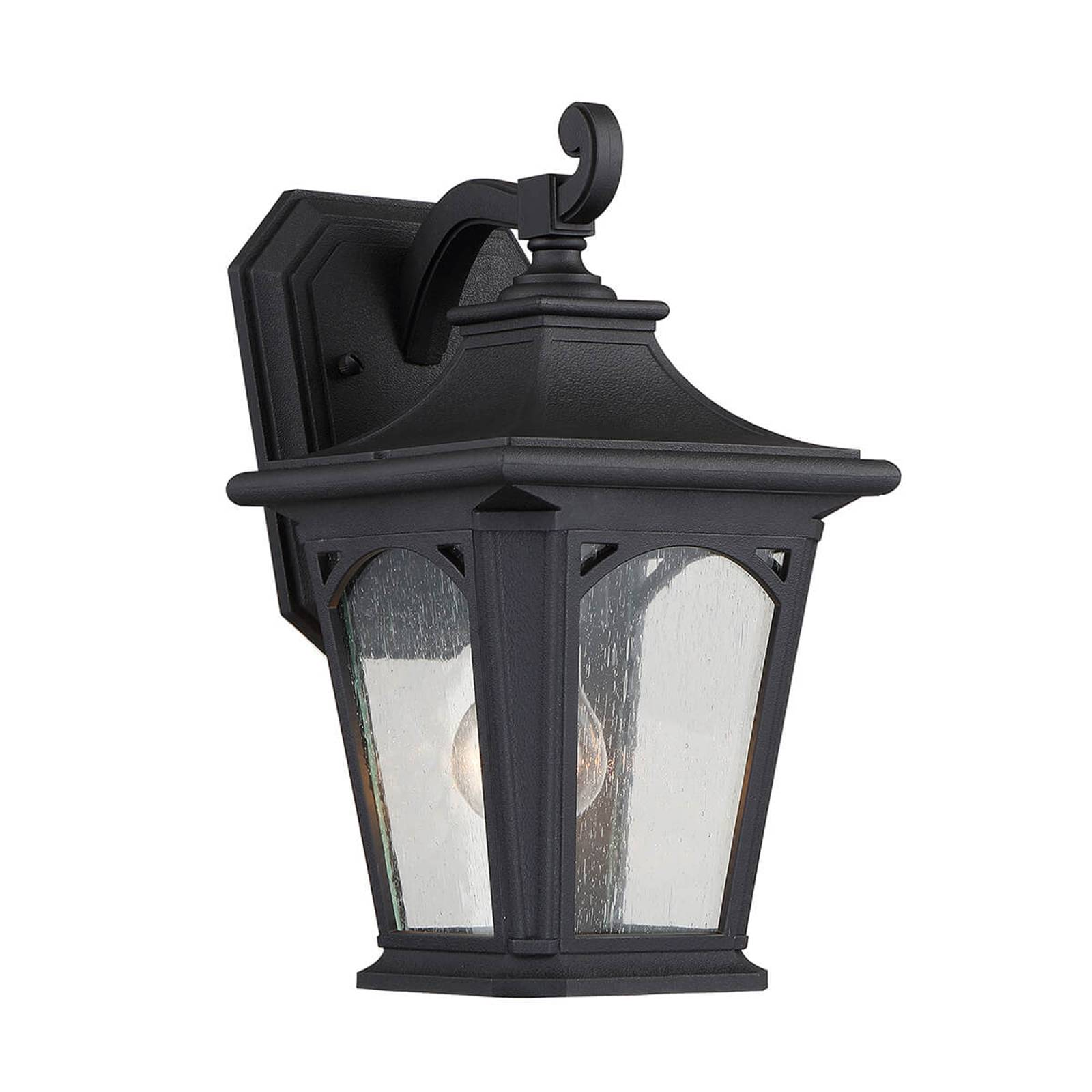 Black Bedford small outdoor wall lamp from QUOIZEL